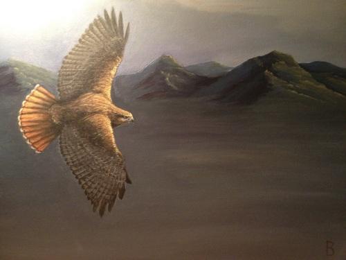 """Migration"" 18x24"" acrylic on canvas."